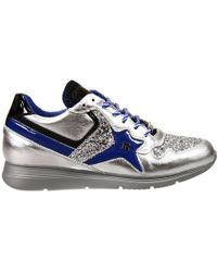 John Richmond - Shoes Esther Sneakers Leather Laminated E Glitter - Lyst