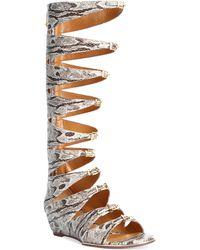 Report Signature Geri Gladiator Sandals animal - Lyst
