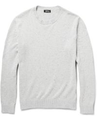 A.P.C. Flecked Cotton And Silk-Blend Sweater - Lyst
