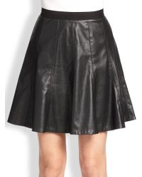 Rebecca Taylor Faux Leather Skirt - Lyst