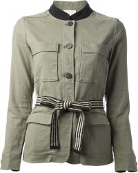 Forte Forte Belted Military Jacket - Lyst