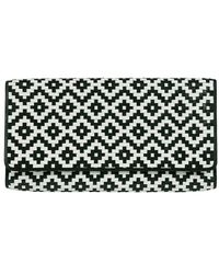 Cole Haan Izzie Woven Leather Clutch - Lyst