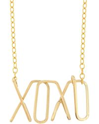 By Philippe - Xoxo Pendant Necklace - Lyst