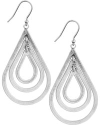 Lucky Brand - Silvertone Multi-Teardrop Earrings - Lyst