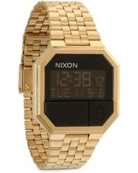 Nixon Re-Run Digital Watch gold - Lyst