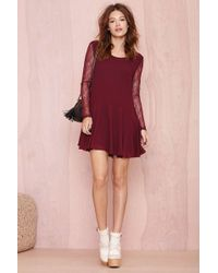 Nasty Gal Mila Lace Dress - Lyst