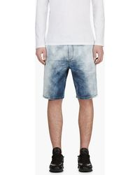 Diesel Blue Faded Dee_nee Joggjean Shorts - Lyst