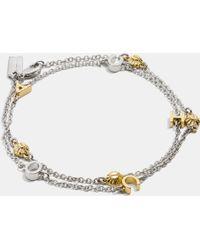 COACH - Pave Rivet Bracelet - Lyst