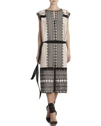 BCBGMAXAZRIA Runway Hanna Silk Dress - Lyst