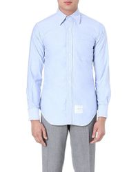Thom Browne Fitted Cotton Shirt - Lyst
