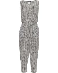 Weekend by Maxmara - Crochet Check Jumpsuit - Lyst