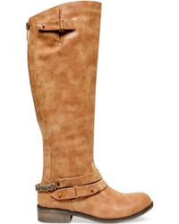 Madden Girl Caanyon Tall Shaft Riding Boots - Lyst