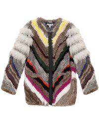 Elizabeth And James Tarra Rabbit Fur Jacket - Lyst