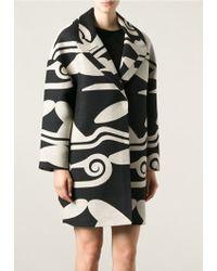 Diane von Furstenberg Geometric Pattern Coat - Lyst