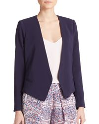 Rebecca Taylor Ruffle-Back Suiting Jacket blue - Lyst
