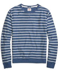 Brooks Brothers Herringbone Stripe Crewneck Shirt - Lyst