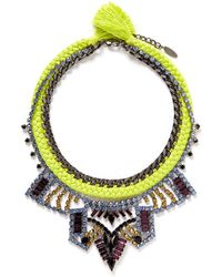 Joomi Lim - 'Rebel Romance' Cotton Braid Crystal Necklace - Lyst