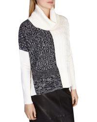 Karen Millen   Color-blocked Knit Sweater   Lyst