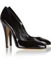 Casadei Patent-leather Pumps - Lyst