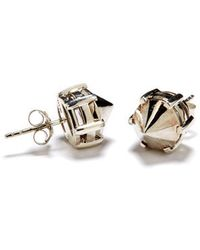 Anna Sheffield Eleonore Stud Earrings - Silver - Lyst