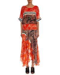Preen Devore Wisden-Print Maxi Dress - Lyst