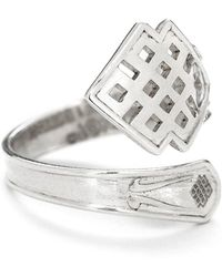ALEX AND ANI - Endless Knot Spoon Ring - Lyst