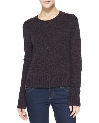 Autumn Cashmere Elbowpatch Tweedy Cashmere Sweater - Lyst