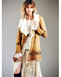 Free People Hand Painted Suede Coat - Lyst