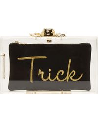 Charlotte Olympia Clear Perspex Trick Or Treat Pandora Box Clutch - Lyst