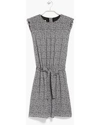 Mango Leaf Print Dress - Lyst