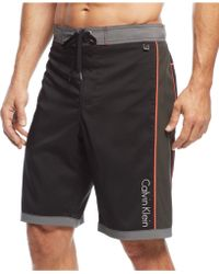 Calvin Klein Contrast Swim Shorts black - Lyst