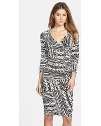 Nydj Yasemin Printed Jersey Dress - Lyst
