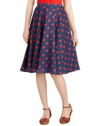 ModCloth Ikebana For All Skirt in Dots - Lyst
