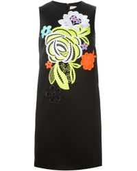 Christopher Kane Decades Floral Stretch Dress - Lyst