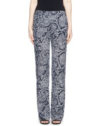 Theory Paisley Print Trousers blue - Lyst