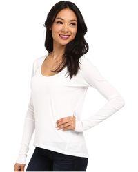 Alternative Apparel Scoop Neck T-Shirt Long Sleeve - Lyst