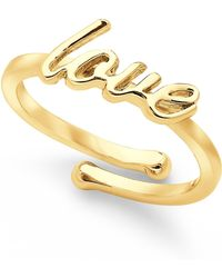 "Kate Spade ""Love"" Adjustable Ring - Lyst"