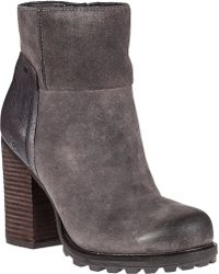 Sam Edelman Franklin Ankle Boot Grigio Grey Suede gray - Lyst