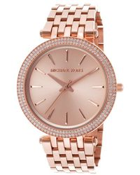 Michael Kors Women'S Rose Gold Tone Dial Rose Gold Tone Ip Stainless Steel - Lyst