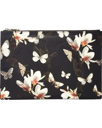 Givenchy Magnolia & Moth Large Zip Pouch multicolor - Lyst