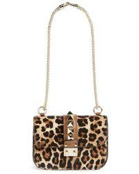 Valentino 'Small - Rock Stud' Leopard Print Calf Hair Convertible Shoulder/Crossbody Bag - Lyst