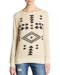 Wildfox Warrior Dropped Shoulder Pullover - Lyst