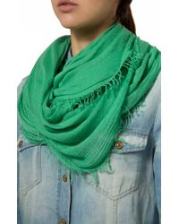 7 For All Mankind - Essential Scarf Emerald - Lyst