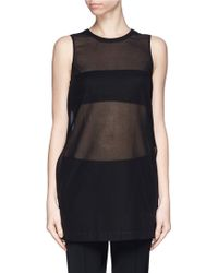 Theory Pinga' Sheer Cotton Voile Top - Lyst