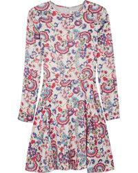 Alice By Temperley Lou Lou Floralprint Satin Mini Dress - Lyst