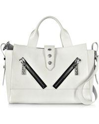 Kenzo White Leather Medium Kalifornia Tote Bag - Lyst