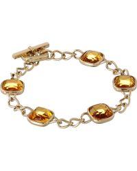 Michael Kors Botanicals Toggle Bracelet - Lyst