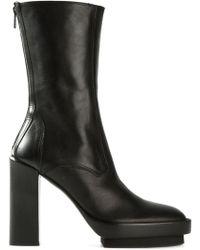 Ann Demeulemeester Chunky Heel Platform Boots - Lyst
