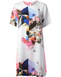 Preen Mixed Print Shift Dress - Lyst
