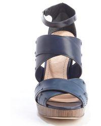 Reed Krakoff - Dark Blue Anklestrap Heel Sandals - Lyst